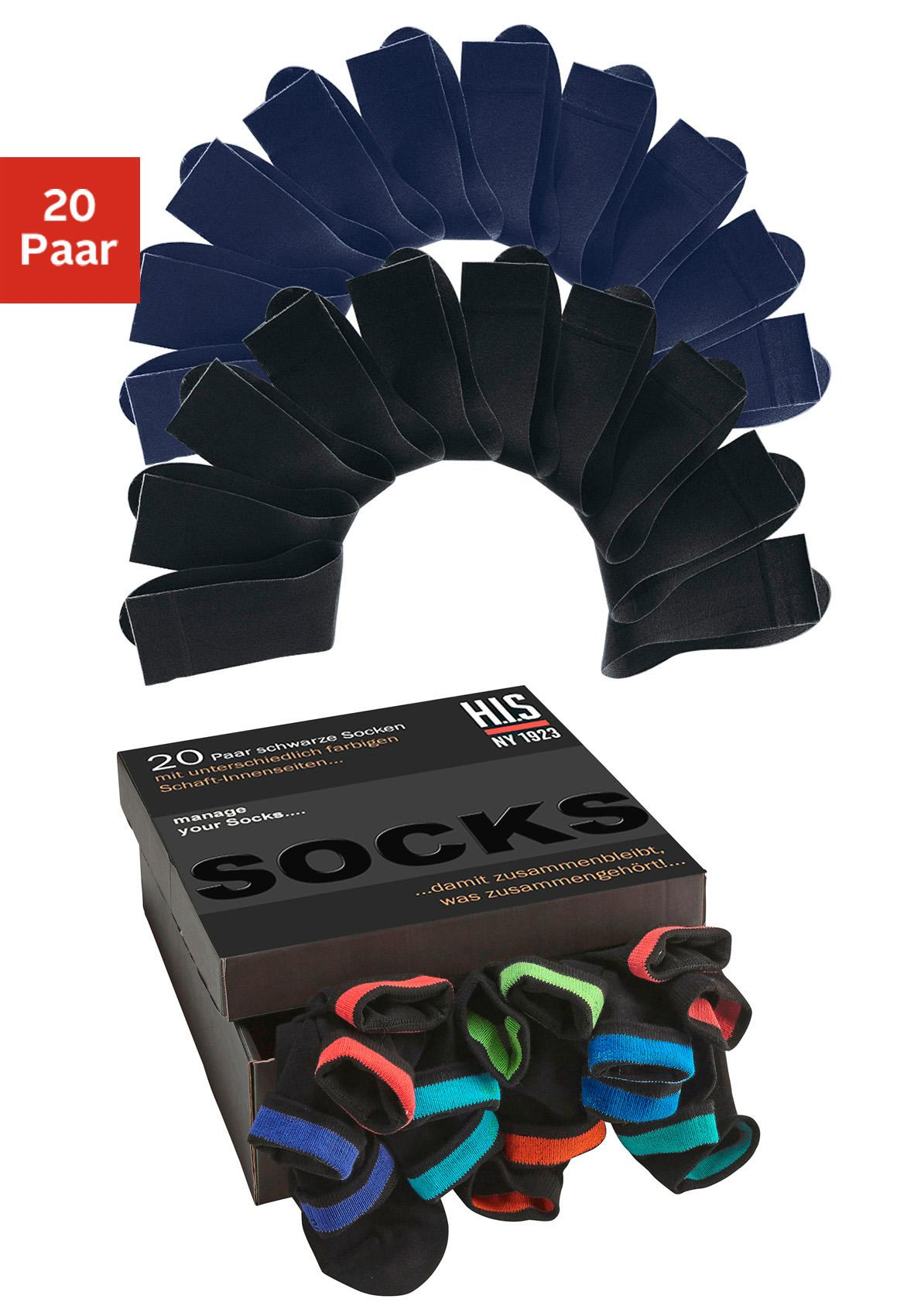 H.I.S Socken (Box, 20 Paar)