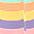 gestreift lila + gelb + grün + orange + rosa
