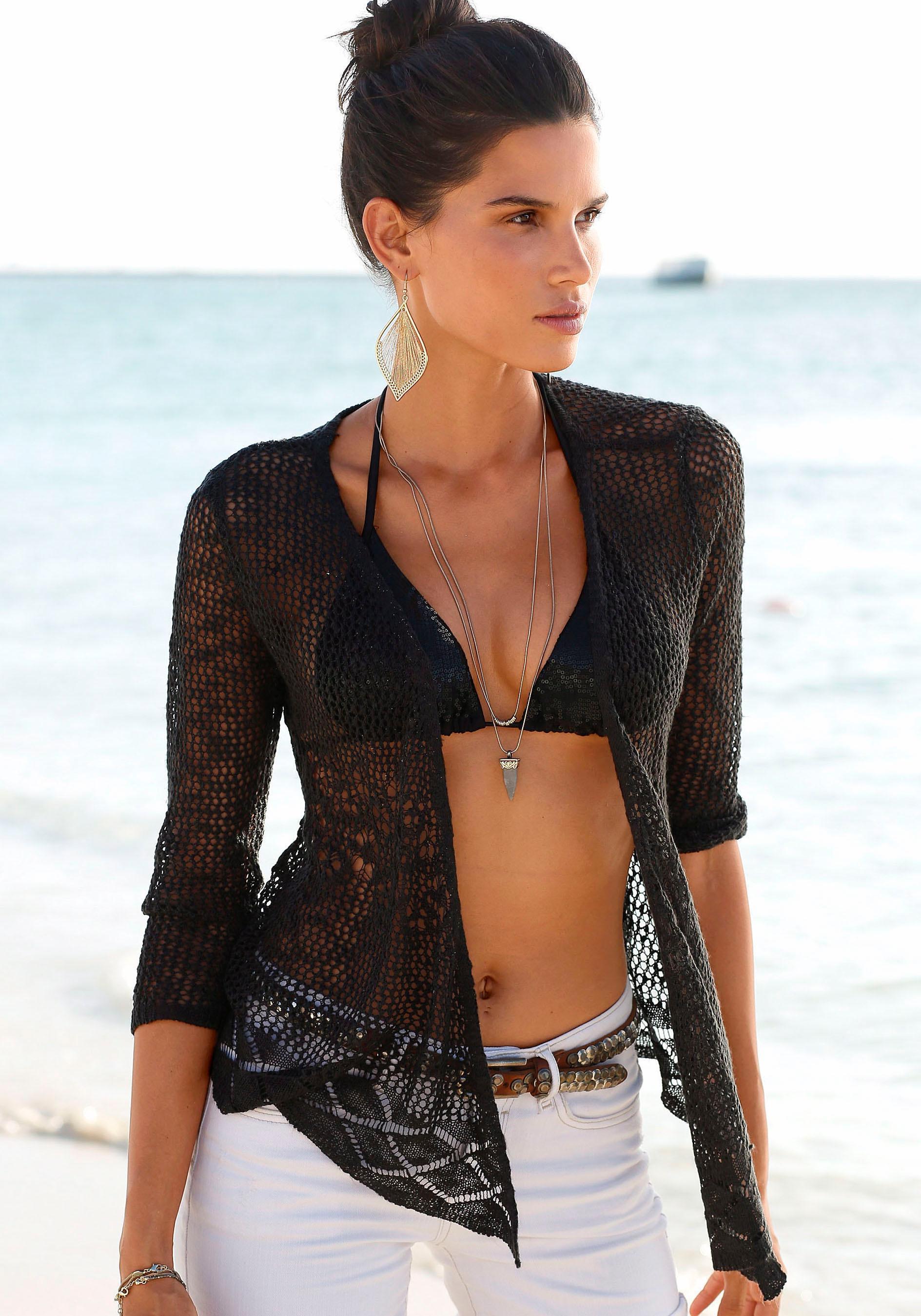 s.Oliver RED LABEL Beachwear Stickjacke