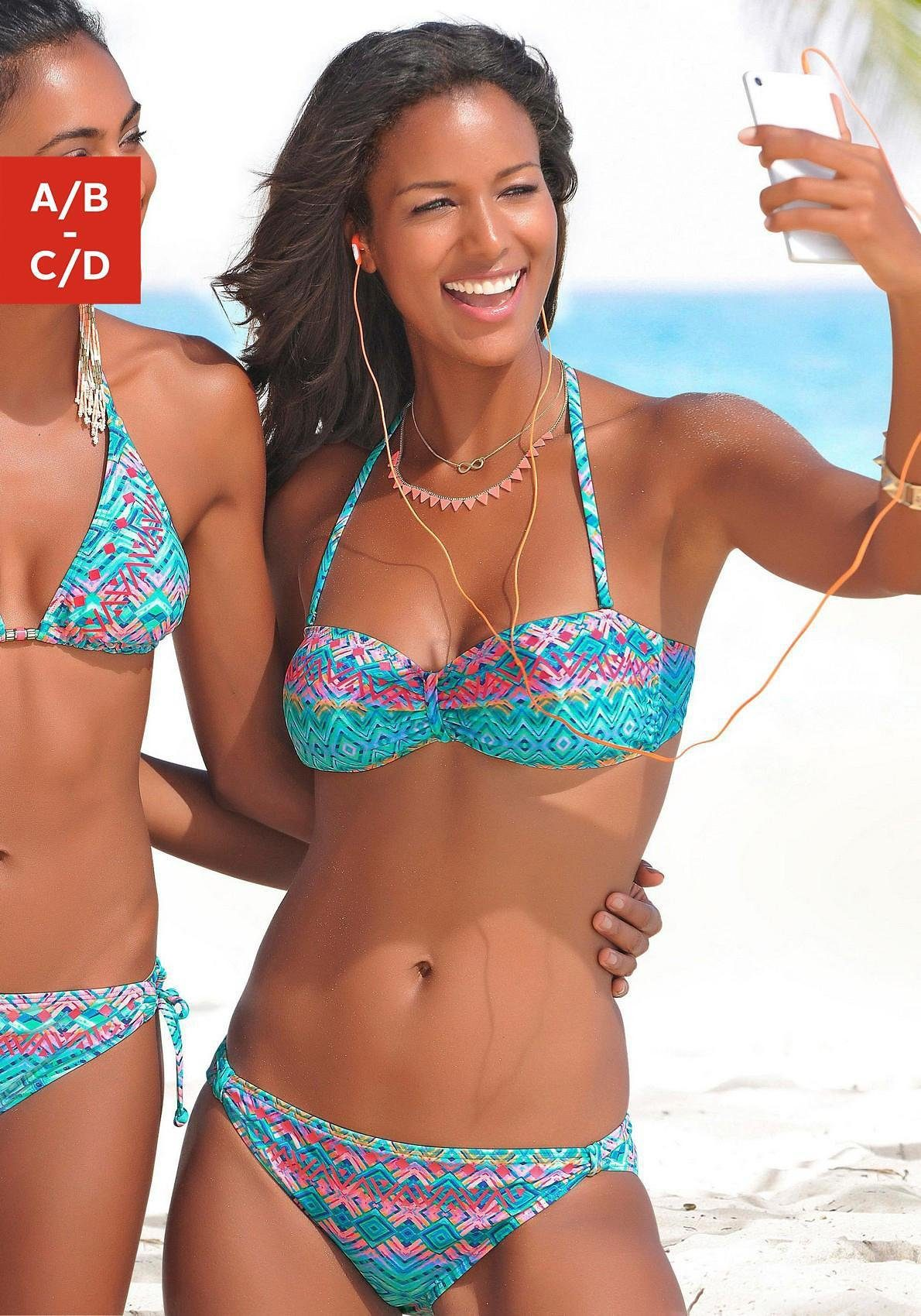Buffalo Bandeau-Bikini mit grafischem Muster