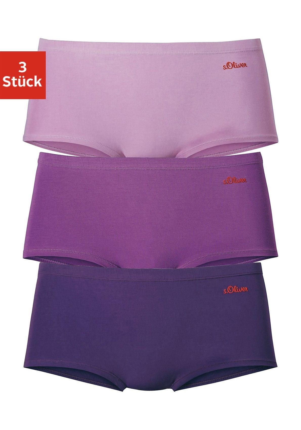 s.Oliver RED LABEL Bodywear klassische Baumwoll-Panties (3 Stück)