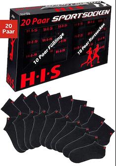 H.I.S Kurzsocken (Box, 20 Paar)