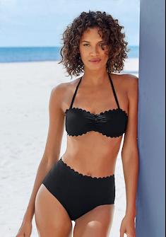 LASCANA Highwaist-Bikini-Hose »Scallop«