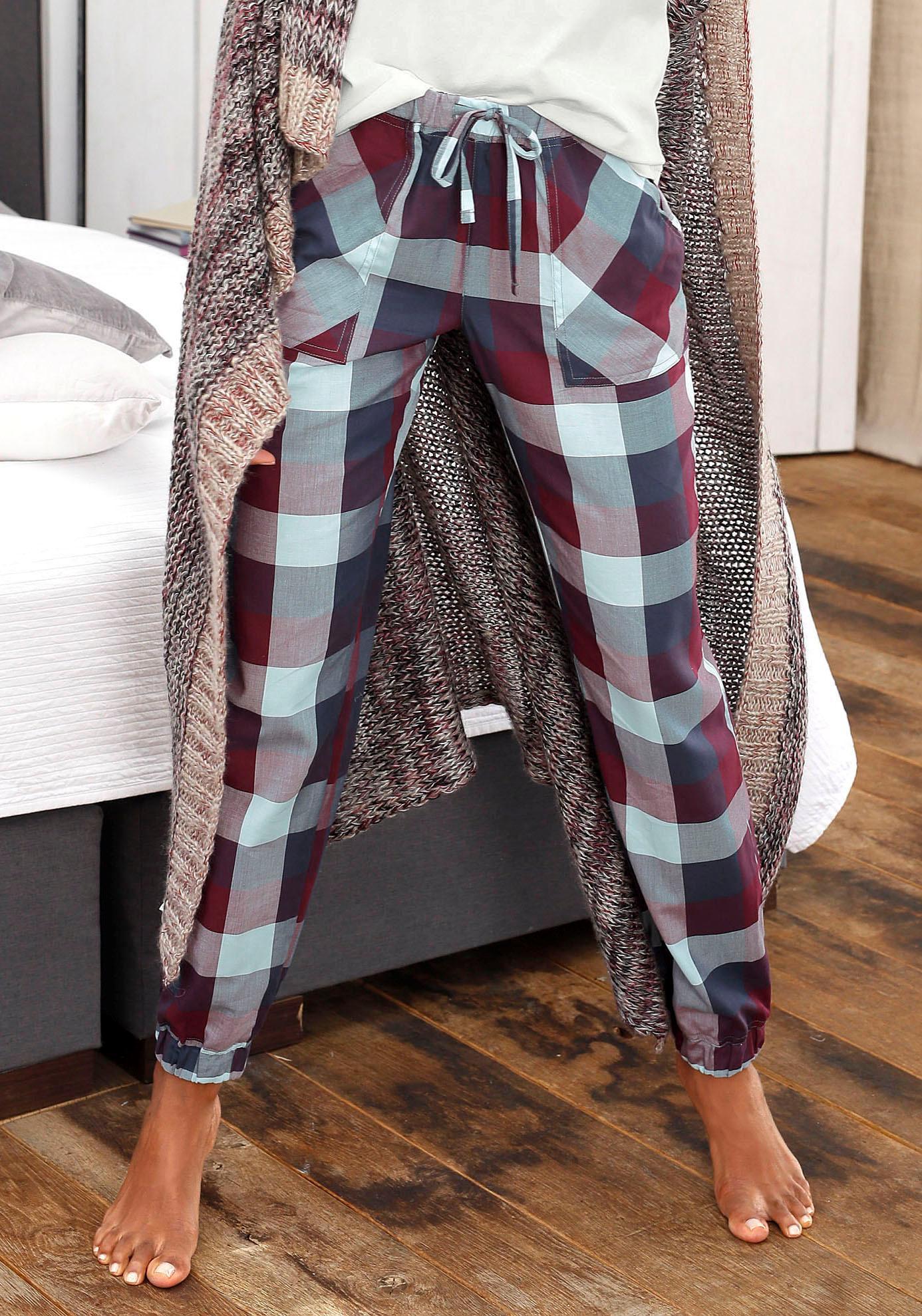 LASCANA Schlafhose mit aufgesetzten Taschen