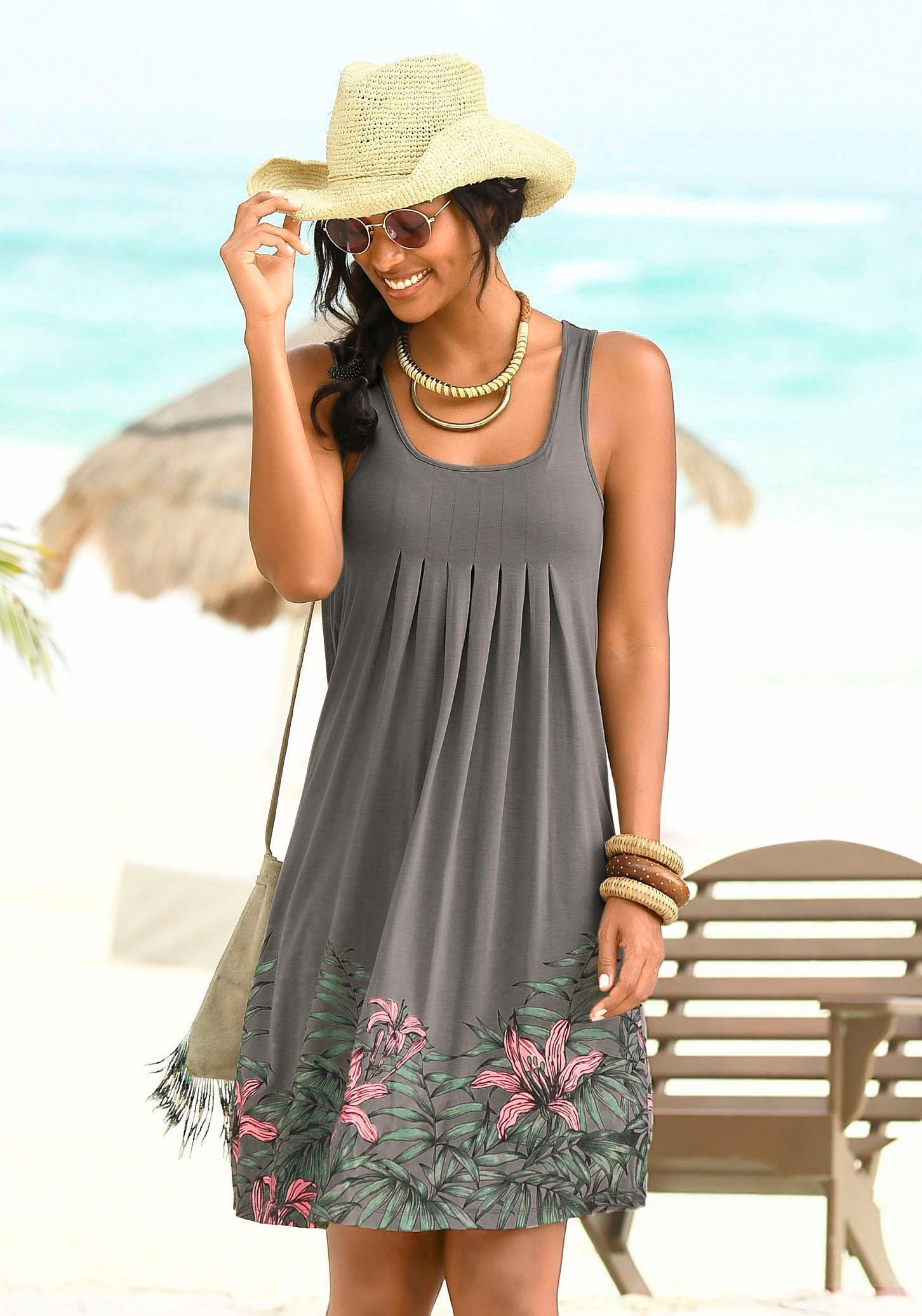 Beachtime Strandkleid mit Liliendruck