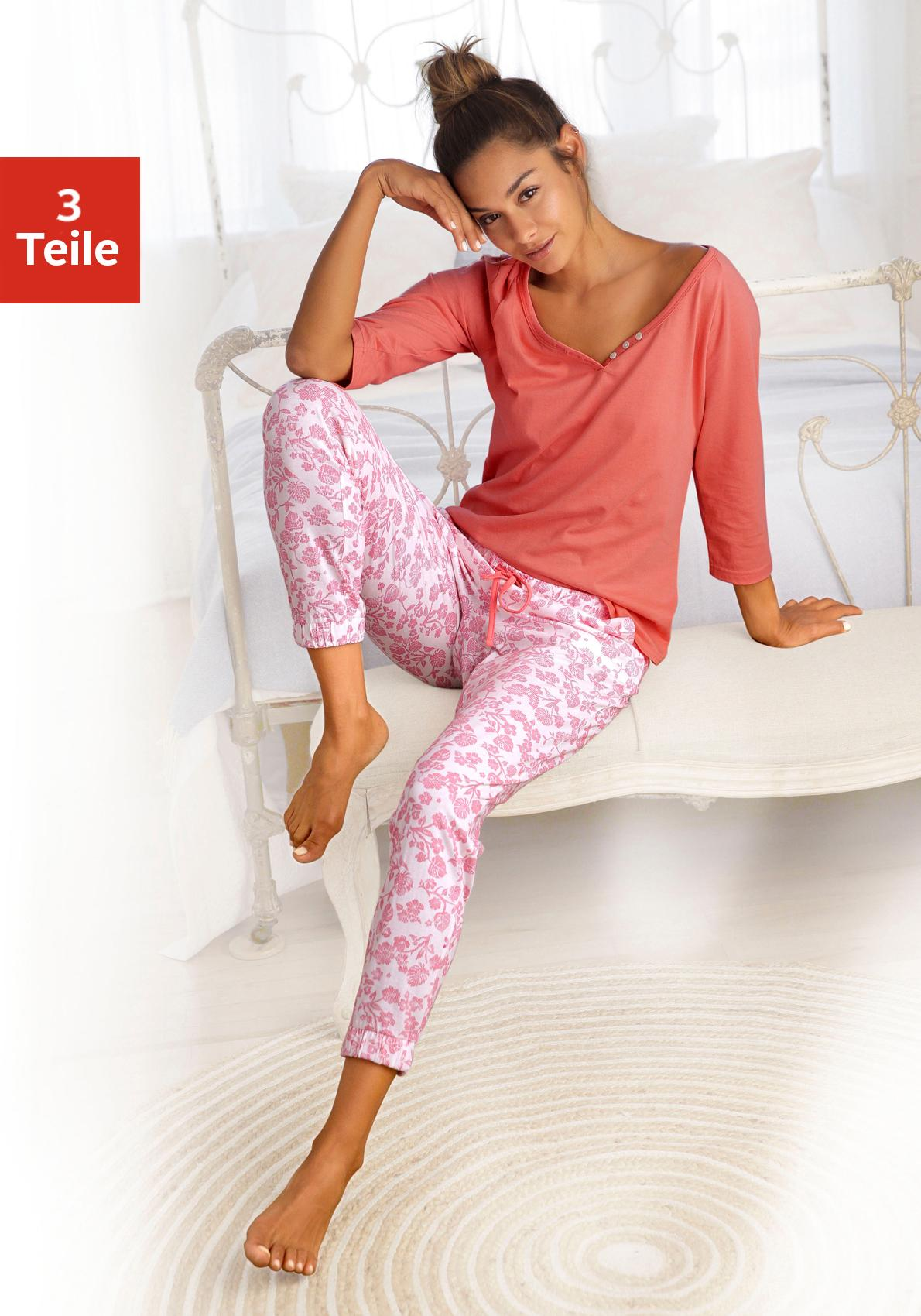 Vivance Dreams Pyjama (Set, 3-tlg.)