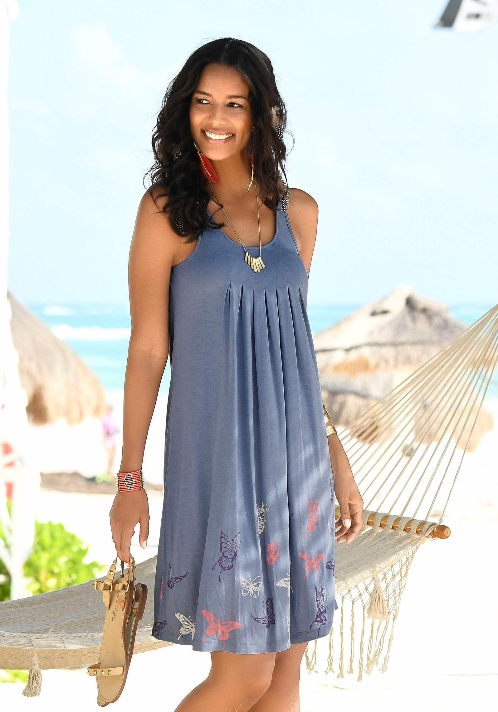 Beachtime Strandkleid mit Schmetterlingsdruck