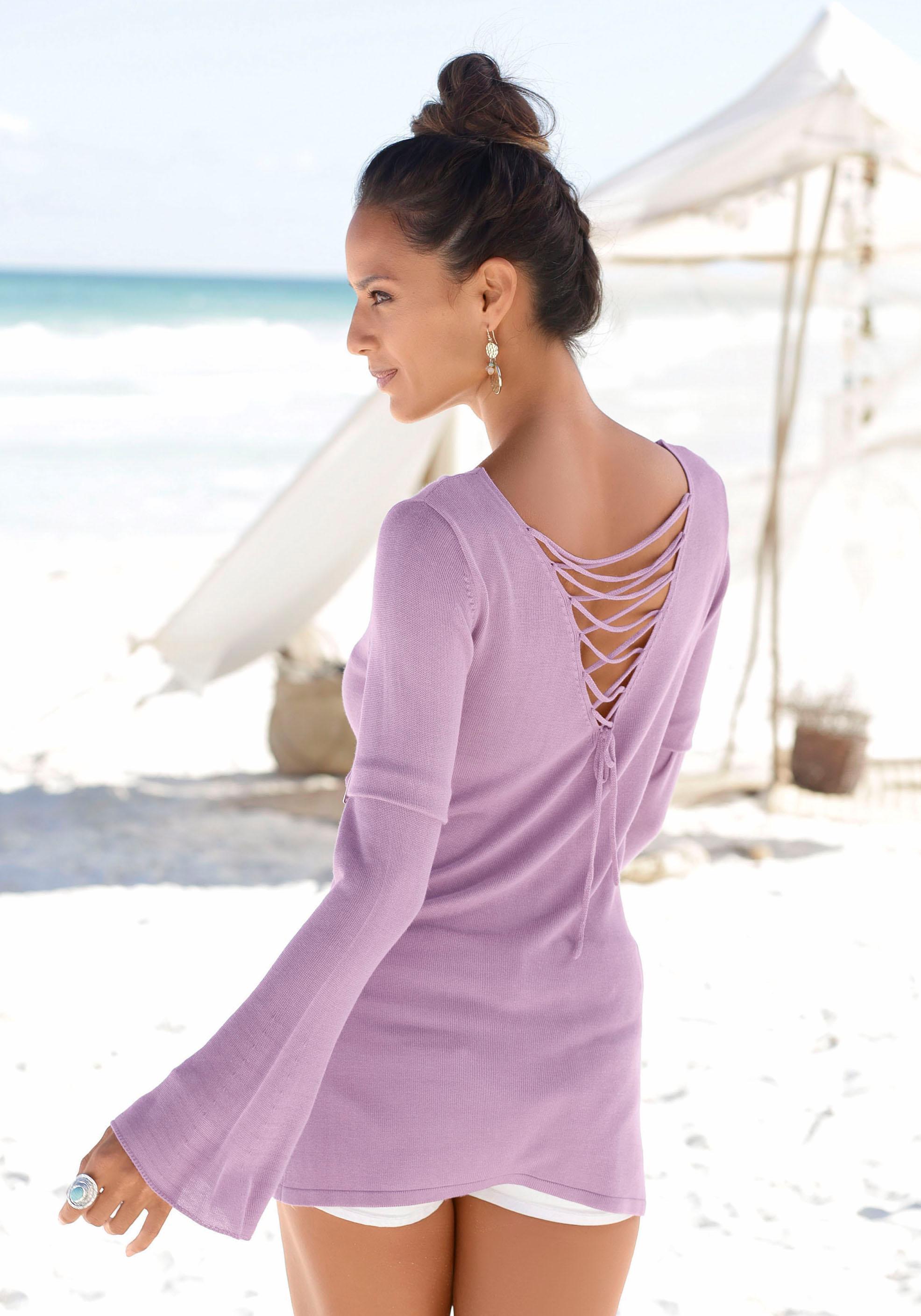 LASCANA Strandpullover mit tollem Rücken