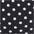schwarz-weiss-gepunktet