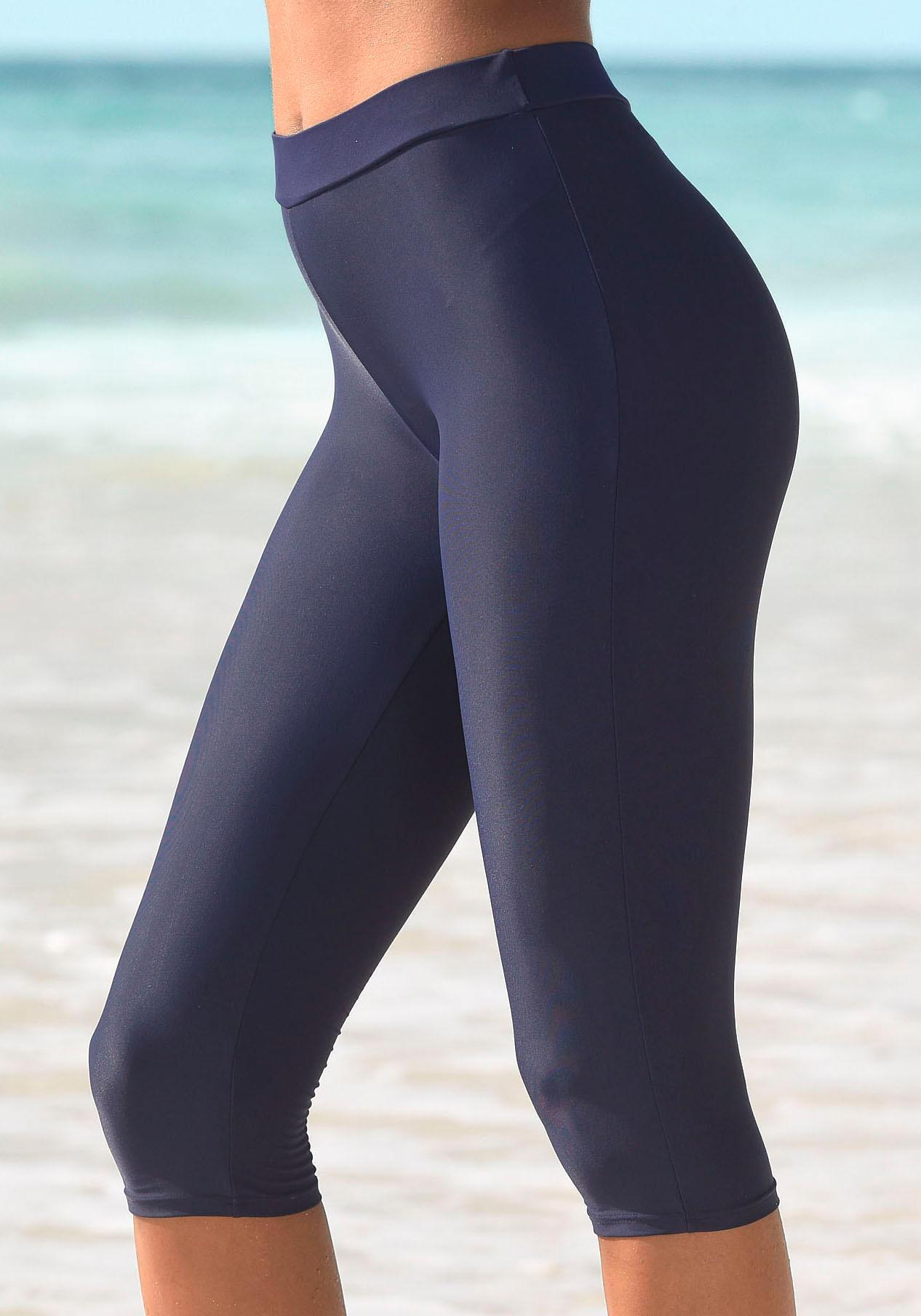 LASCANA Bade-Capri mit elastischem Bündchen
