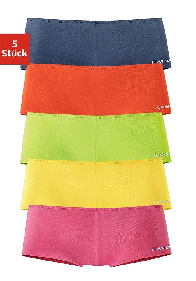 Flashlights Microfaser-Panties mit stark angeschnittenem Bein und knalligen Farben (5 Stück)