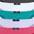 anthrazit + weiss + mint + flieder + pink