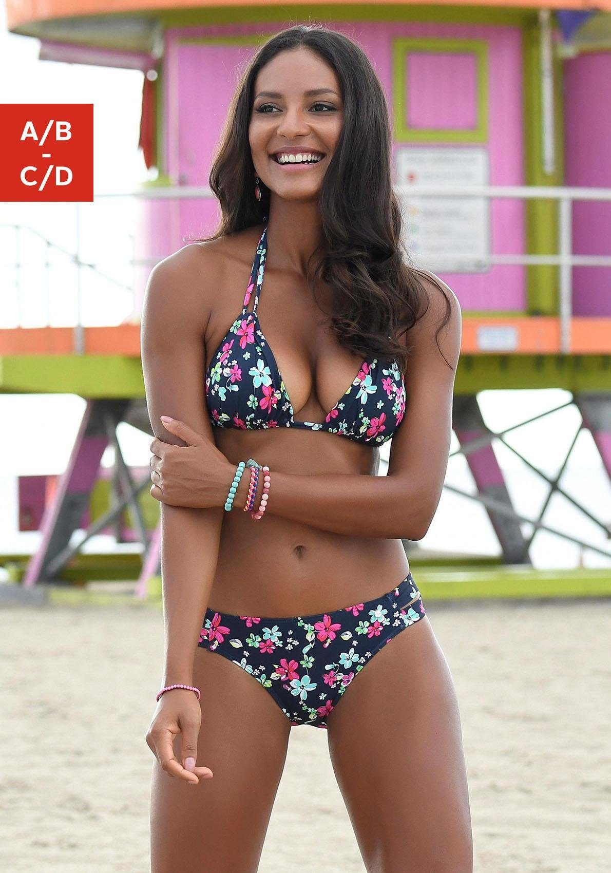 s.Oliver RED LABEL Beachwear Triangel-Top »Valencia« im Blumendesign