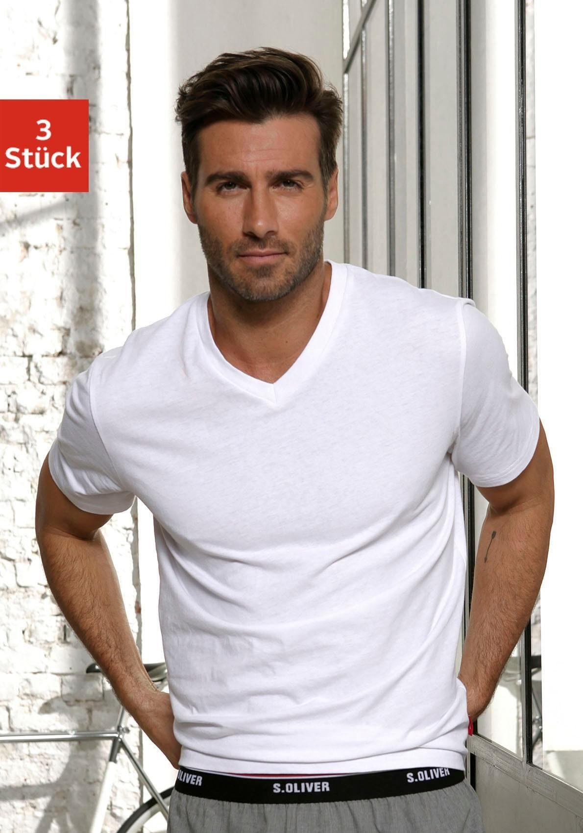 s.Oliver Bodywear V-Shirt (Packung, 3er-Pack)