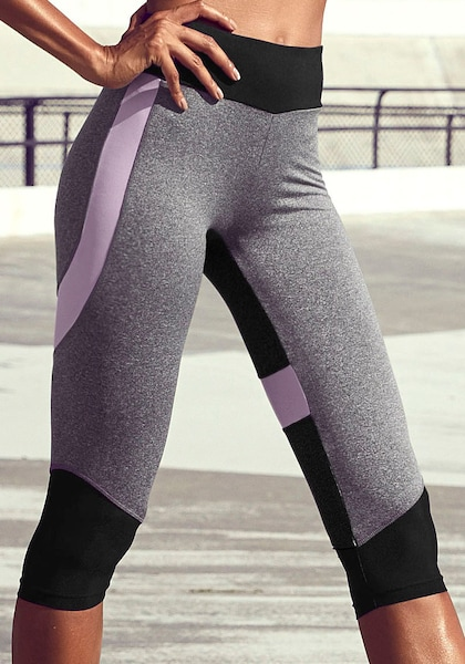 LASCANA ACTIVE Caprileggings »Digital Mauve«