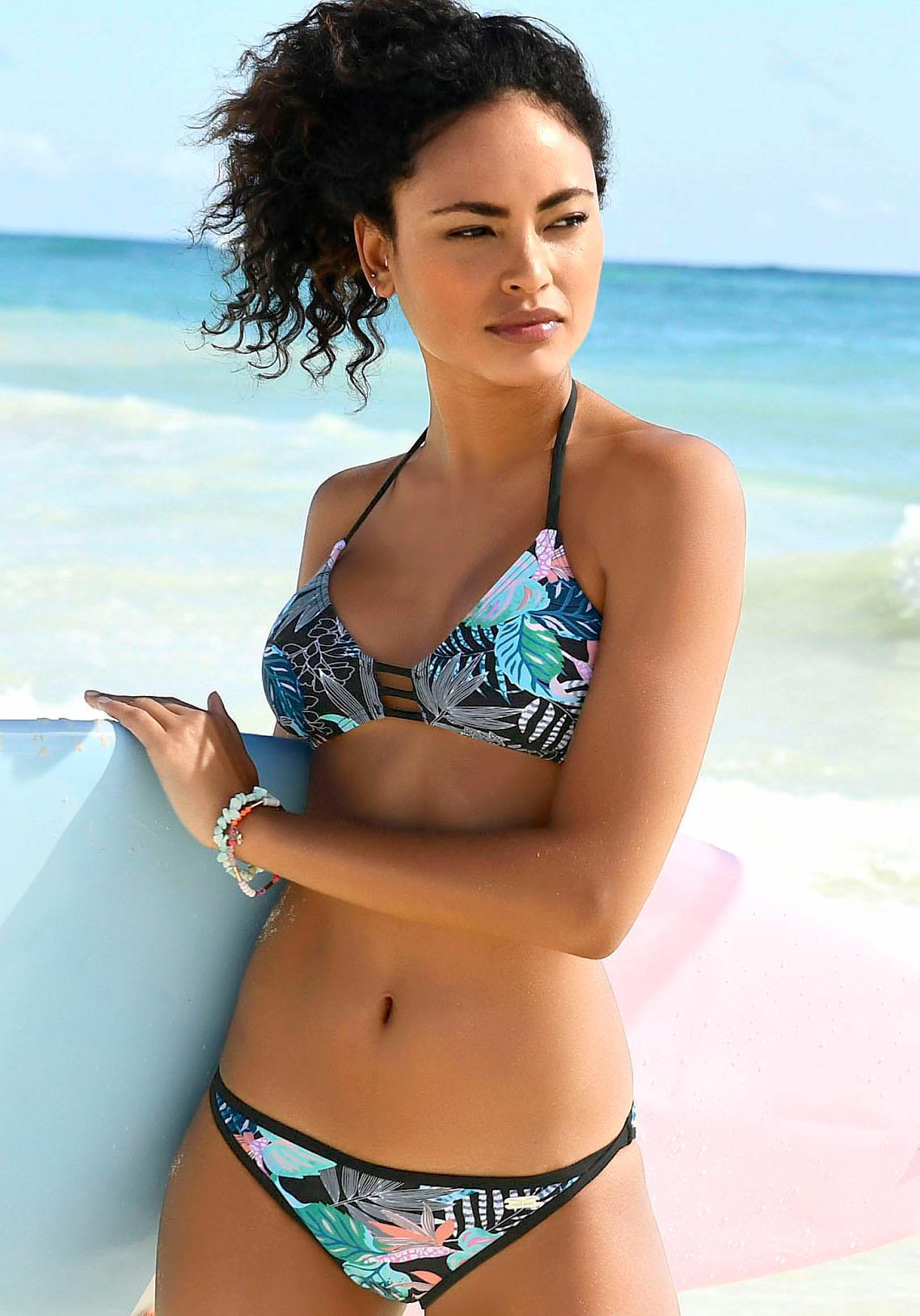 Venice Beach Bikini-Hose »Smash« mit unifarbener Einfassung