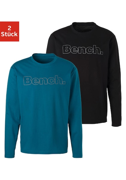 Bench. Langarmshirt (Packung, 2er-Pack)