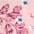 rosa geblümt