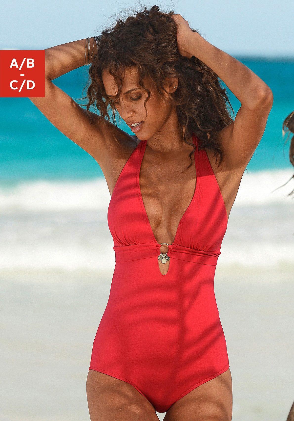 s.Oliver RED LABEL Beachwear Badeanzug mit Accessoires