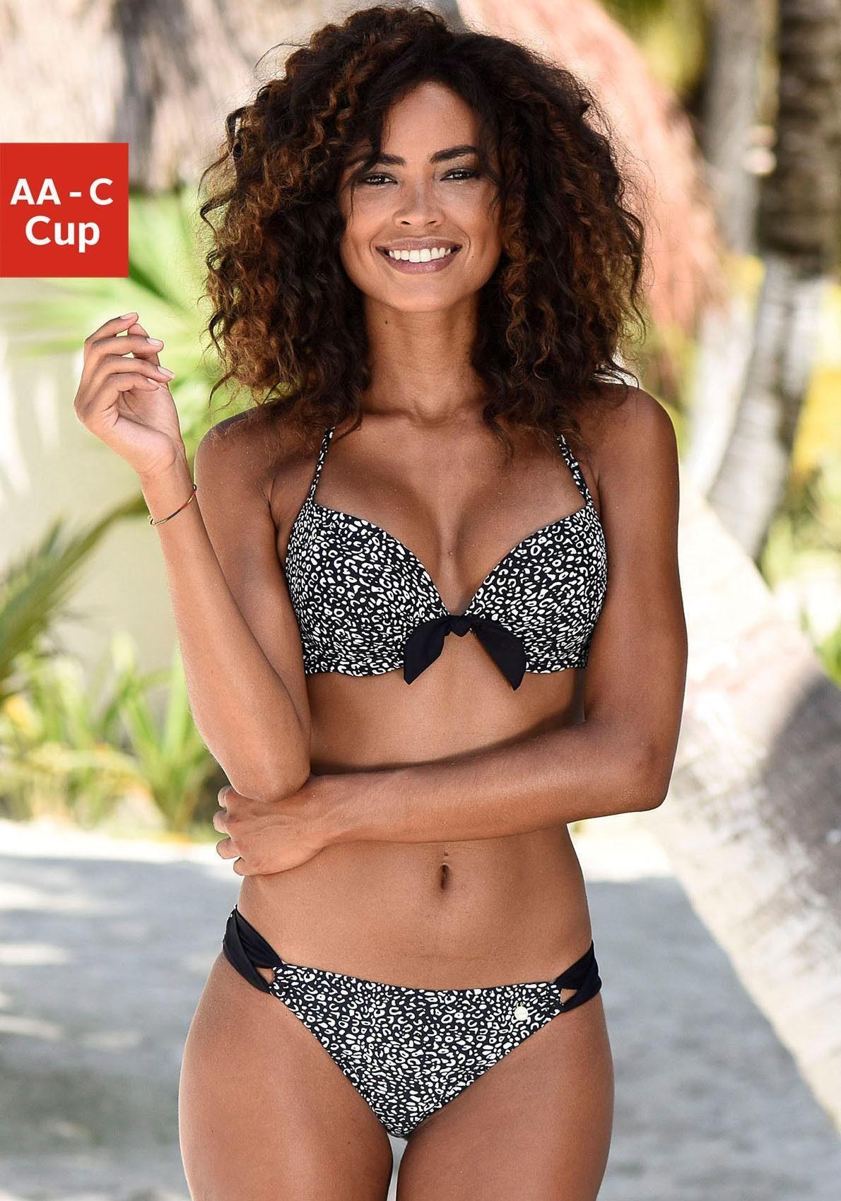 LASCANA Push-Up-Bikini-Top »Leo«