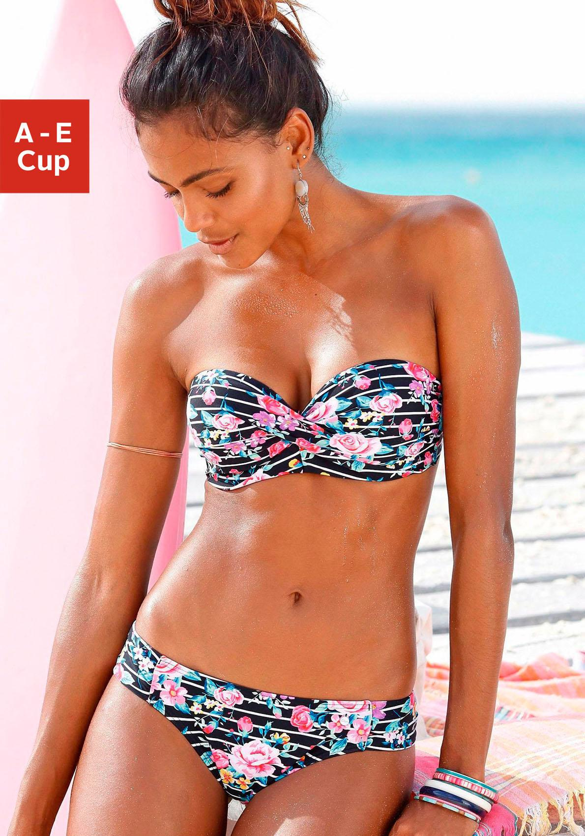 s.Oliver RED LABEL Beachwear Bügel-Bandeau-Bikini