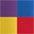 rot + gelb + blau + lila