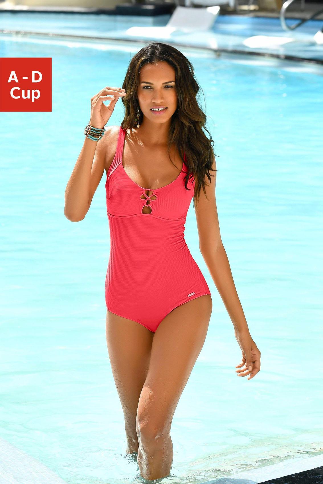 sunseeker Badeanzug mit eleganter Zierschnürung