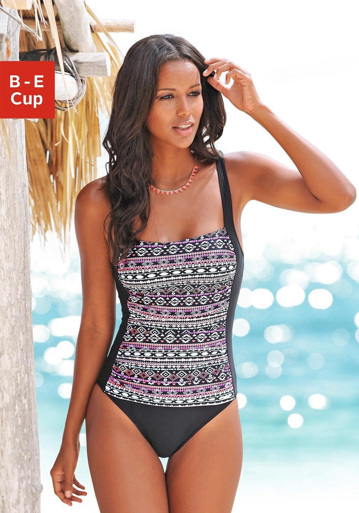 LASCANA Badeanzug mit Muster im Ethno-Stil