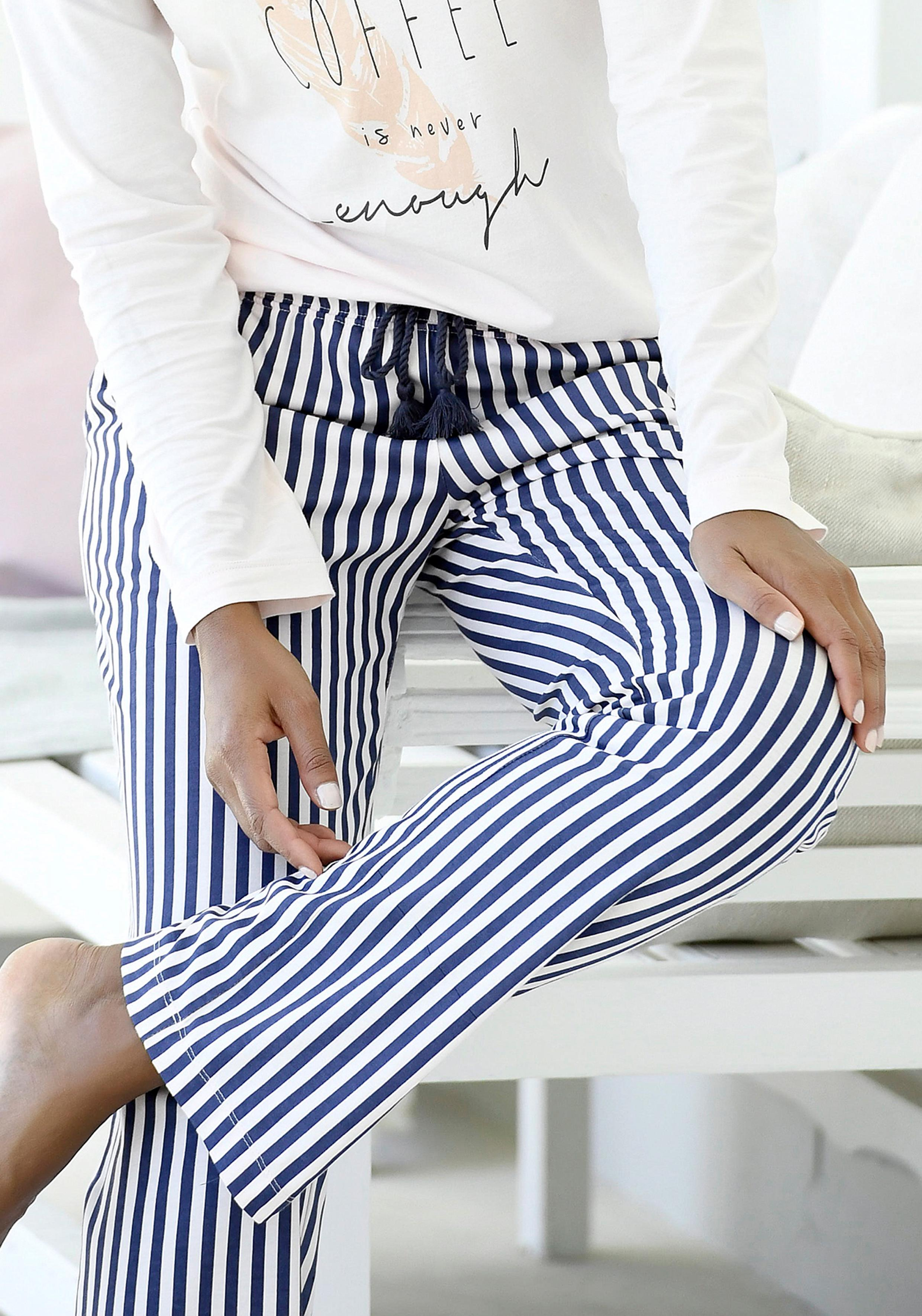 LASCANA Schlafhose mit geraden geschnittenen Hosenbeinen