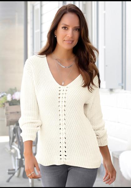 LASCANA V-Ausschnitt-Pullover