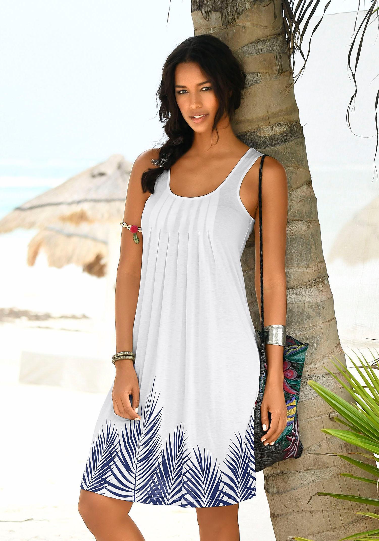 Beachtime Strandkleid mit Blätterprint