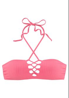 LASCANA Bandeau - Bikini - Top »Rippe«