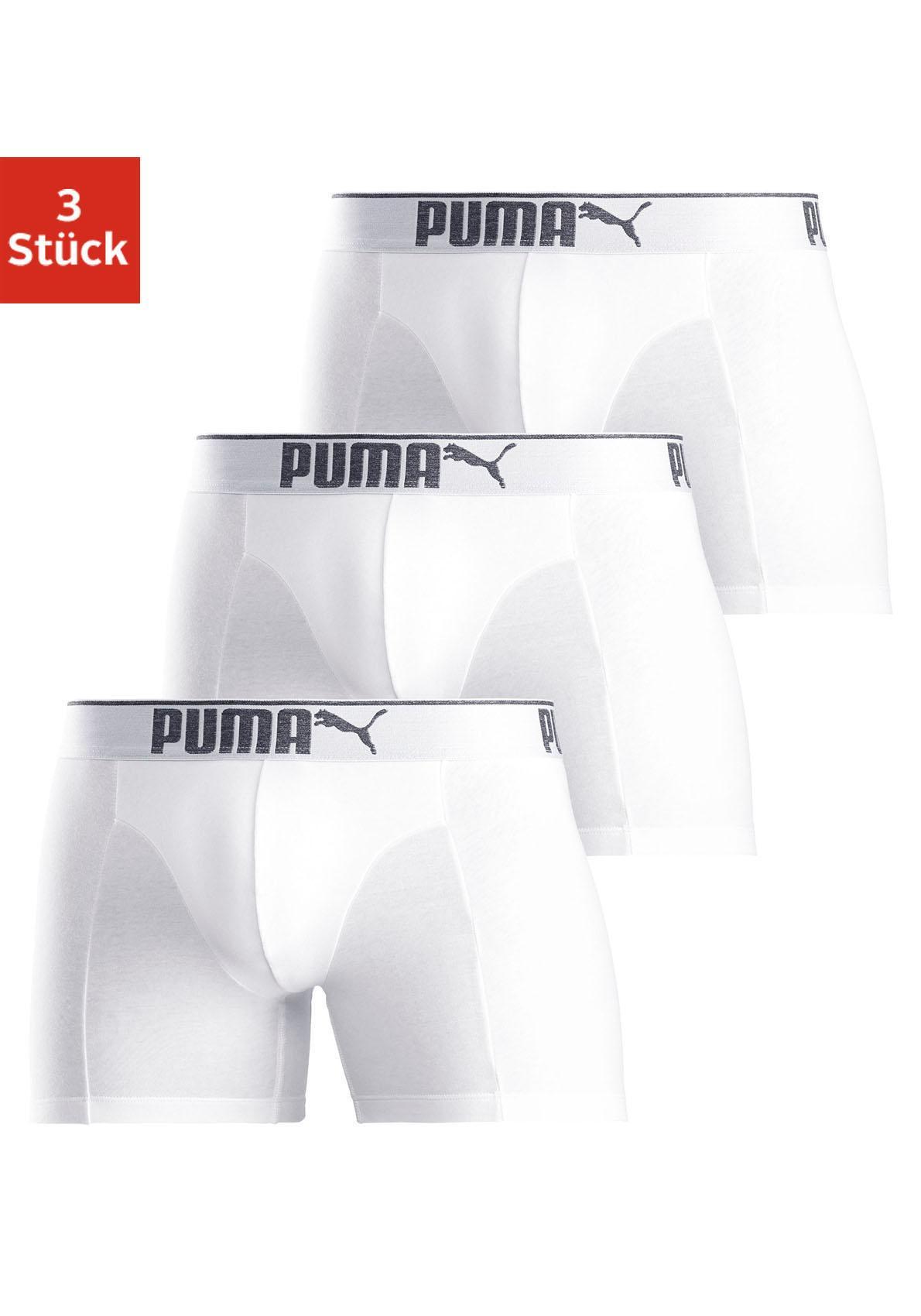 PUMA Boxer »Lifestyle Sueded Cotton Boxer 3P« (3 Stück)
