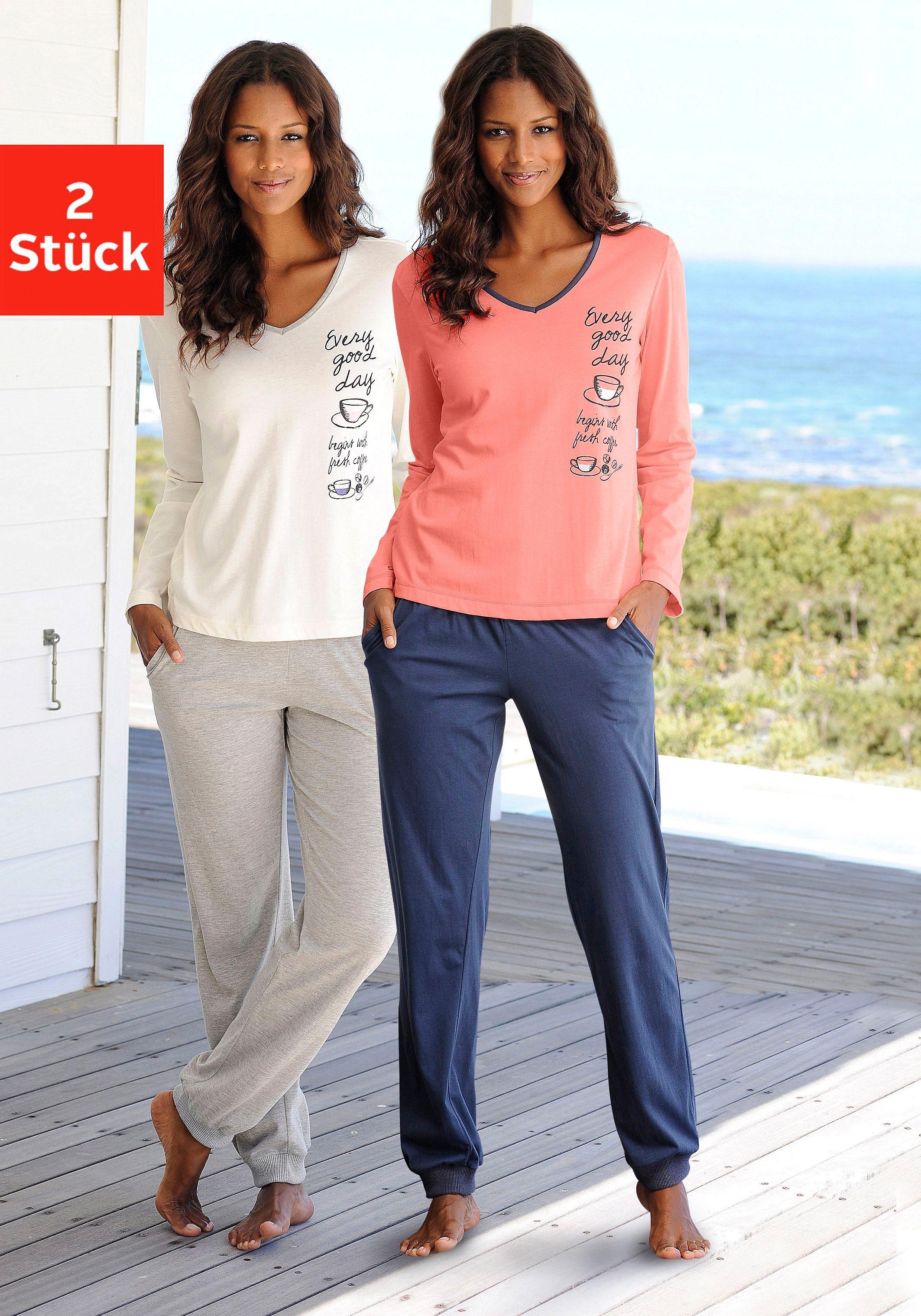 Süsser Pyjama Vivance im Doppelpack, 100% Baumwolle
