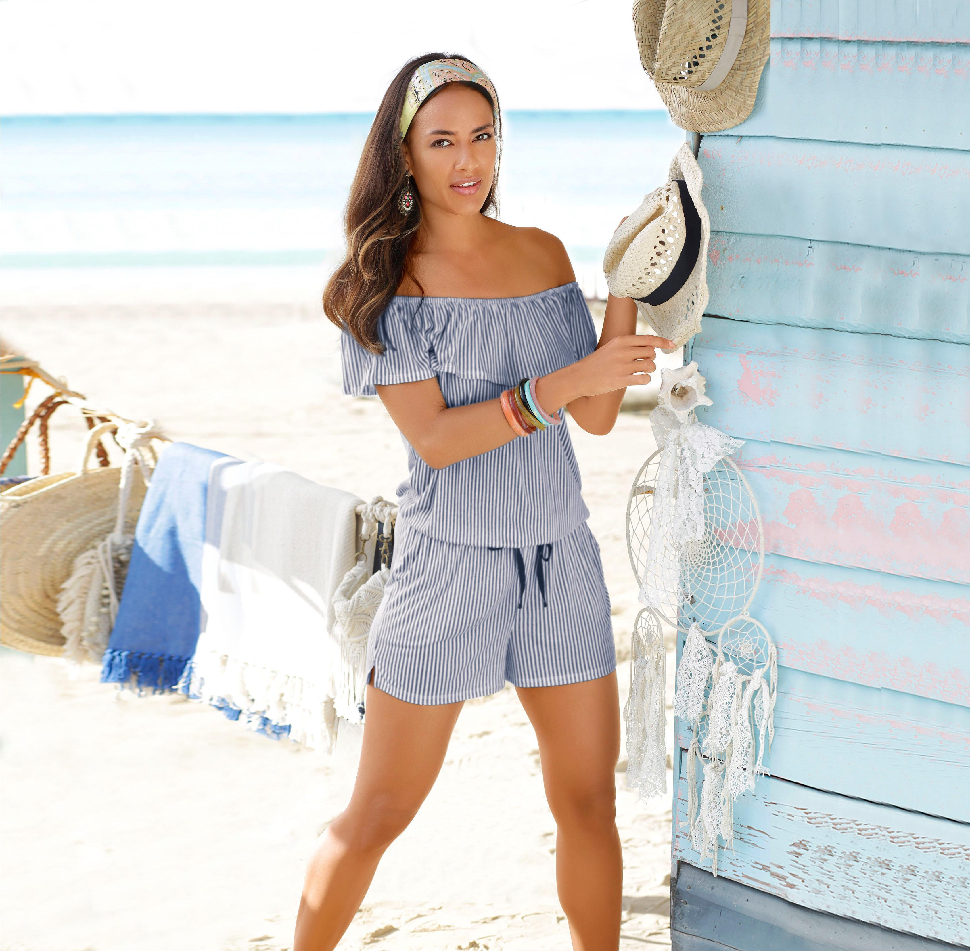 s.Oliver RED LABEL Beachwear Overall mit Volant