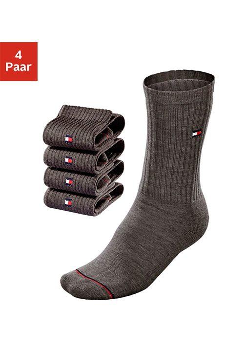 Tommy Hilfiger Klassische Socken (4 Paar) mit Fussfrottee