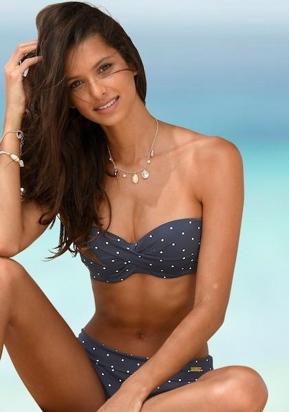LASCANA Bügel-Bandeau-Bikini-Top »Sparkel«