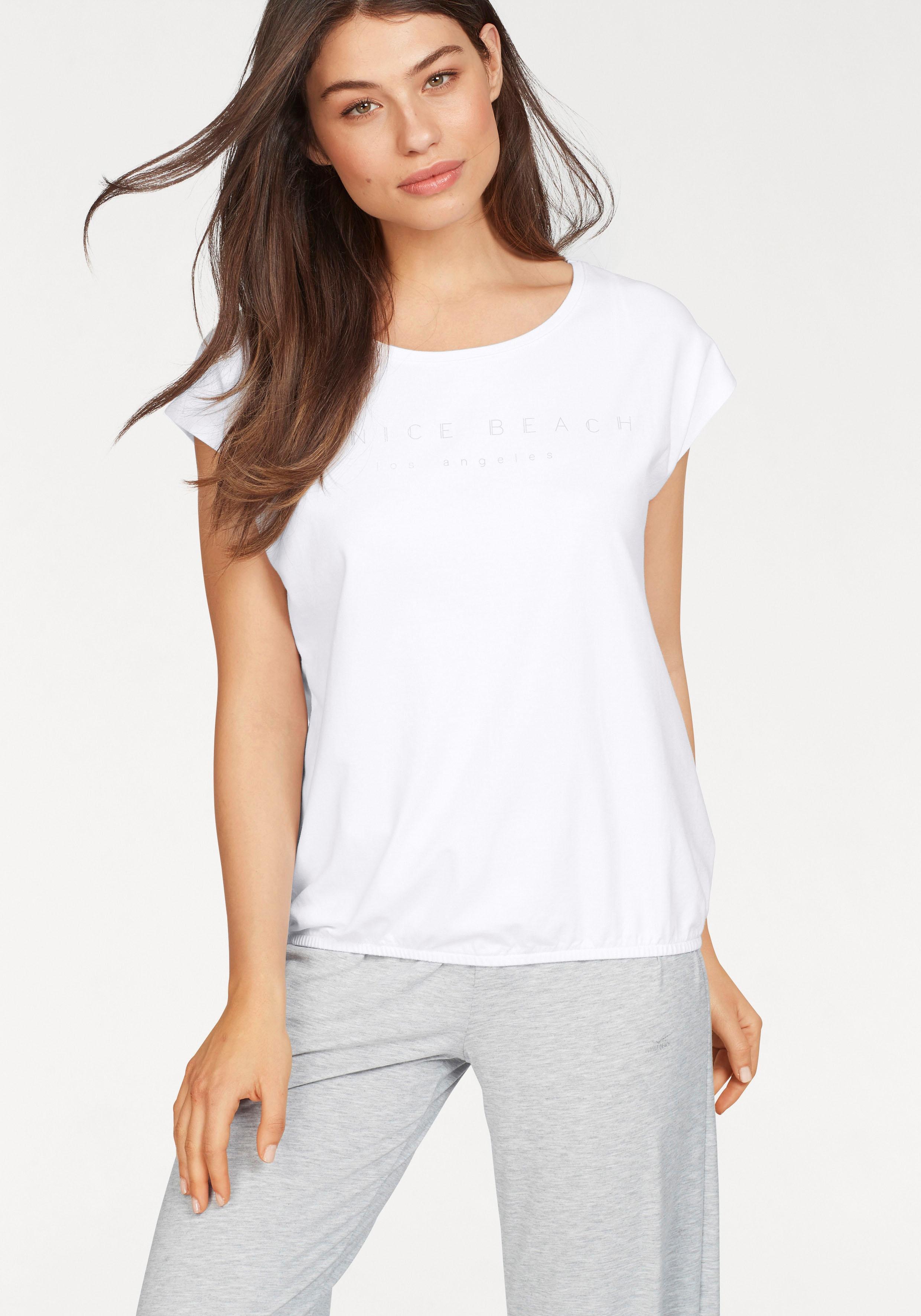 Venice Beach Basic T-Shirt »Wonder« mit überschnittenen Schultern