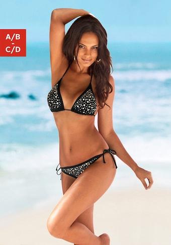 JETTE Triangel-Bikini, mit Ziernieten