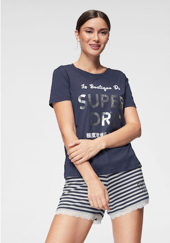 Superdry Shorty »Emma Lace«, mit gestreifter Shorts