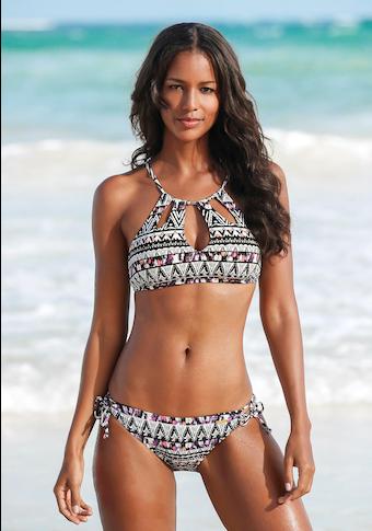 LASCANA Bustier-Bikini-Top »Belize«, mit Zierperlen
