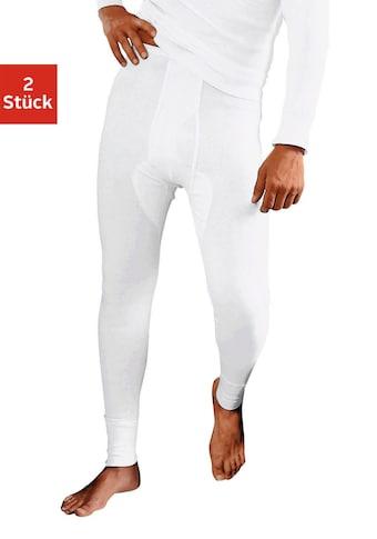 Clipper Lange Unterhose, aus Feinripp, mit Eingriff