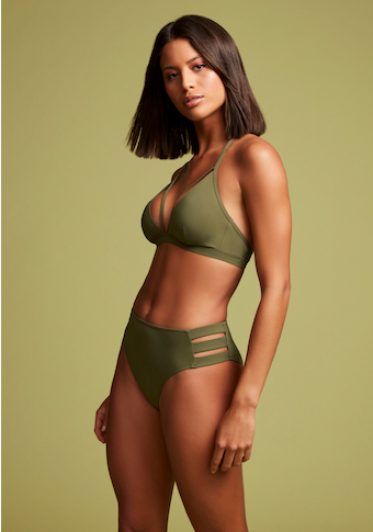 LASCANA Highwaist-Bikini-Hose »Scarlett«, mit seitlichen Bändern