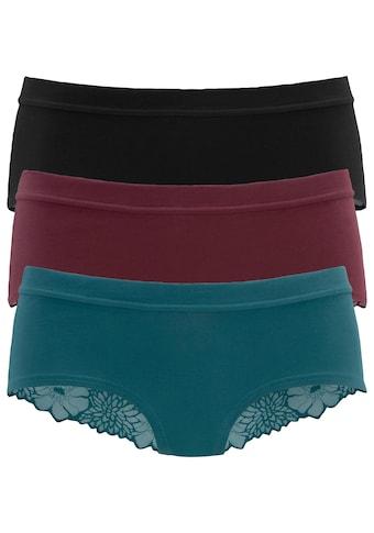 LASCANA Panty, (Packung, 3 St., 3er-Pack)
