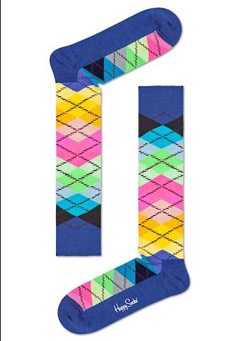 Happy Socks Kniestrümpfe »Argyle«, im klassischen Rautenmuster
