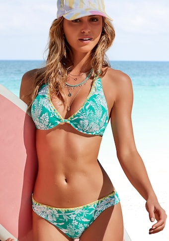 Venice Beach Bügel-Bikini, mit kontrastfarbener Häkelkante