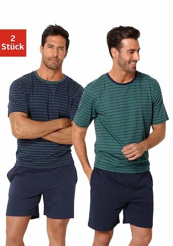 le jogger® Pyjama, kurz im Streifendesign