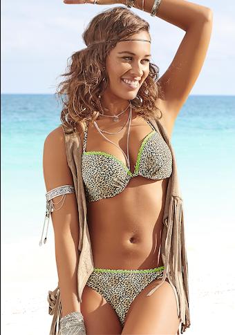 Buffalo Push-Up-Bikini, mit neonfarbiger Ziernaht