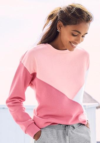 Buffalo Sweatshirt, mit dreifarbigem Design