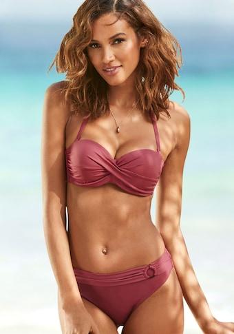 s.Oliver Beachwear Bügel-Bandeau-Bikini-Top »Rome«, in Wickeloptik